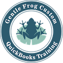 Gentle Frog Custom QuickBooks Training Logo