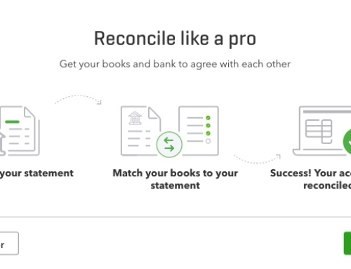 Reconcile the bank QuickBooks Online
