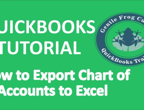 How To Export Chart of Accounts to Excel in QuickBooks Online